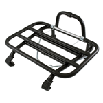 Front luggage carrier for Vespa Sprint, Super, Rally, GT, GL, GS, TS, PX, PE, T5, LML - black